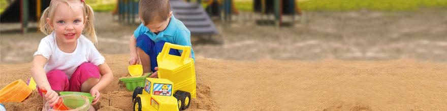 Sand-Baustelle