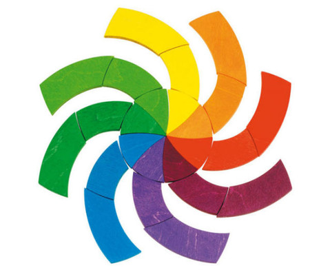 Geomerisches Puzzle Farbkreis Goethe-3