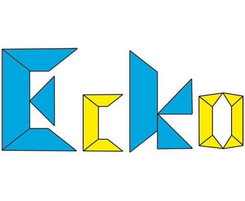 Transparente ECKO-Legesteine grosse Dreiecke-2