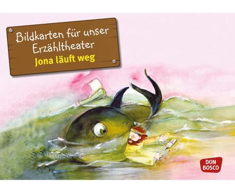Bildkarten Jona laeuft weg