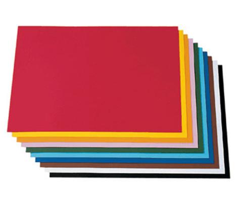 100 Bogen Tonzeichenpapier 50 x 70 cm in 10 Farbtoenen