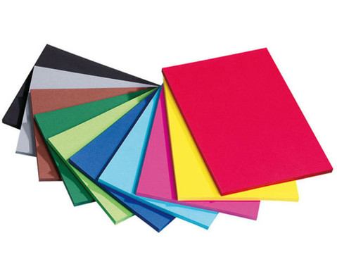 125 Bogen DIN A2 Tonzeichenkarton 160 g-m in 10 Farben-2
