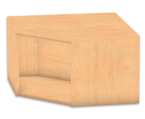 Flexeo Eckregal Aufsatzelement ohne Fachboden Hoehe 414 cm