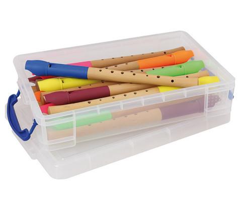 Holzfloete mit Kunststoffkopf inkl Aufbewahrungsbox 15 Stueck