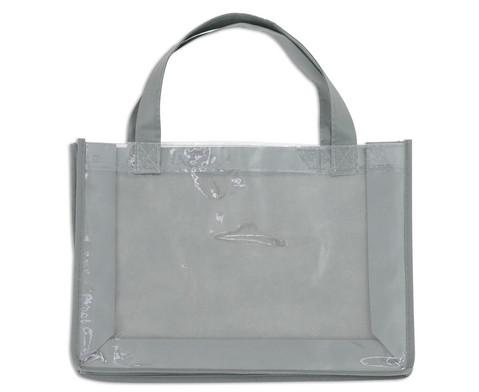 Tasche A4 Querformat grau