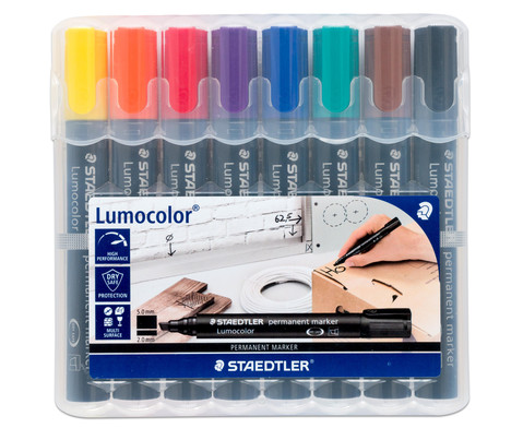 Permanent Marker 8 Farben