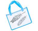 Tasche A4 Querformat blau-2
