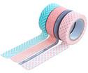 Washi Tape aus 4 Rollen Geometrisch-1