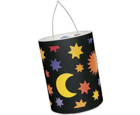 Sonne-Mond-Sterne-Laternen-Zuschnitte 10 Stueck