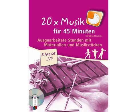 20x Musik fuer 45 Minuten - Klasse 3-4