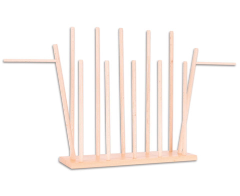 Holzstaender fuer 12 Handpuppen