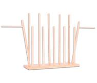 Holzständer für 12 Handpuppen