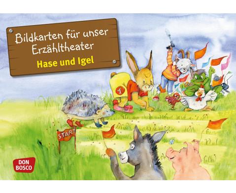 Bildkarten Hase und Igel