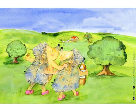 Bildkarten  Hase und Igel-2