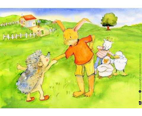 Bildkarten  Hase und Igel-5