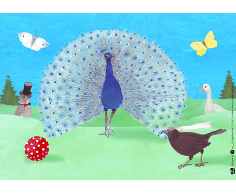 Bildkarten Die Vogelhochzeit-3