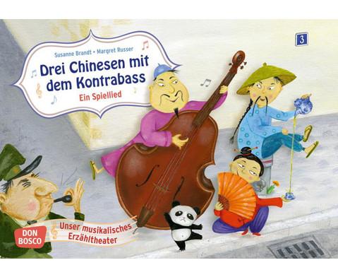 Bildkarten Drei Chinesen mit dem Kontrabass-1
