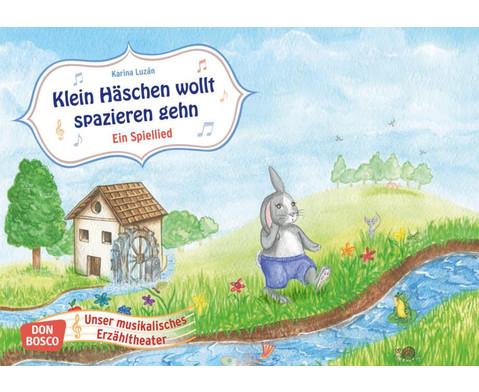 Bildkarten  Klein Haeschen wollt spazieren gehen-1