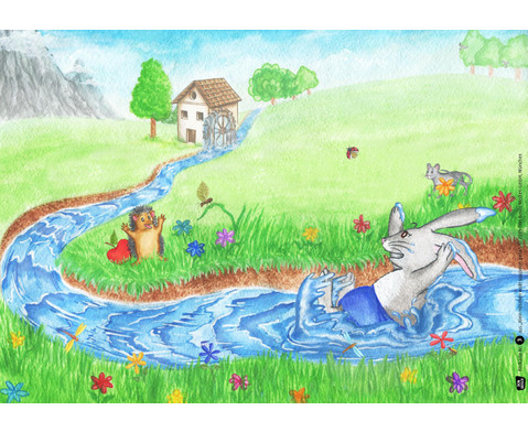 Bildkarten  Klein Haeschen wollt spazieren gehen-2