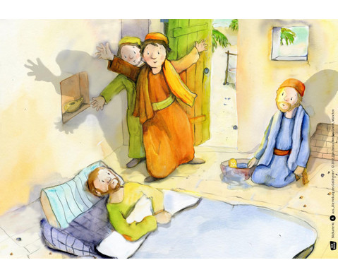 Bildkarten Die Heilung der Gelaehmten-2