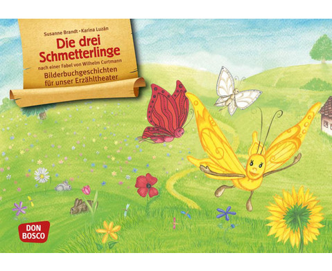 Die drei Schmetterlinge Kamishibai-Bildkartenset