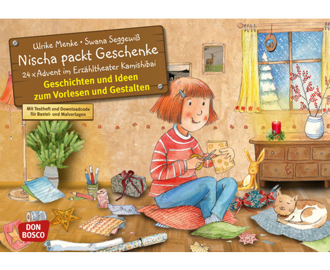 Bildkarten Nischa packt Geschenke-1