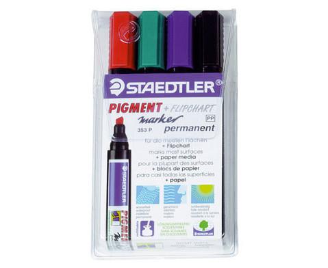 Flipchart-Marker 4 Farben im Etui-2