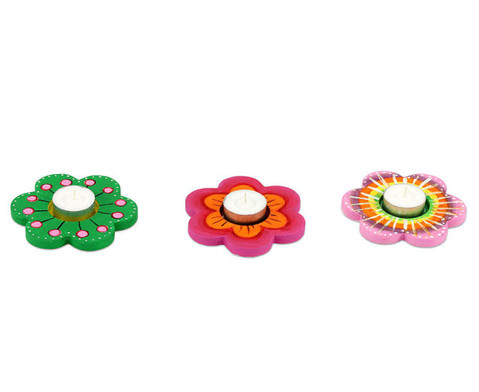 Teelichthalter Blume 3er Set-3
