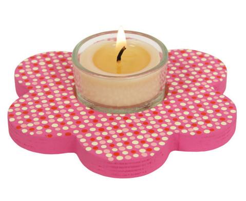 Teelichthalter Blume 3er Set-5