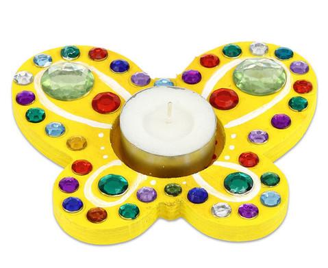 Teelichthalter Schmetterling 3er Set-4