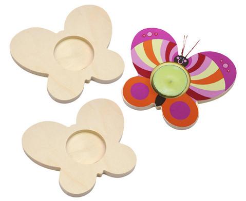 Teelichthalter Schmetterling 3er Set-1