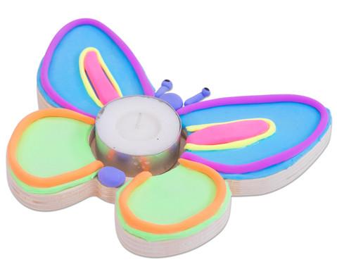 Teelichthalter Schmetterling 3er Set-6