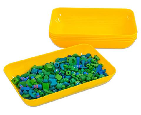 Materialschalen gross 5 Stueck in einer Farbe-22