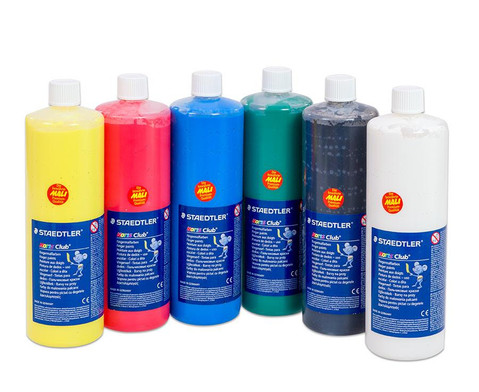 6er-Set Fingermalfarben 45 l-6