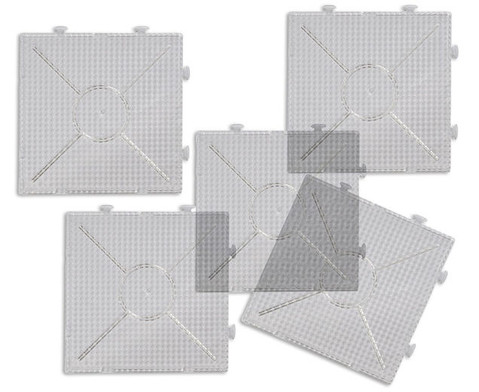 Quadratische Steckplatten fuer Buegelperlen 10er-Set-2