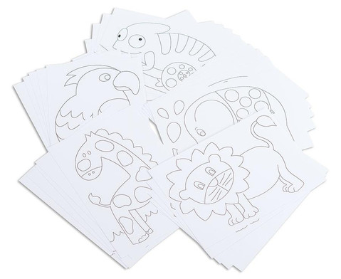 Betzold Tiermotiv-Karten 25 Stueck