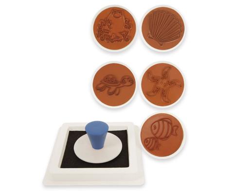 Meerestiere- Stempel 6 Stueck-1