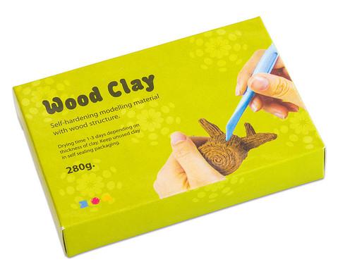 Modelliermasse Holz- oder Korkoptik-3