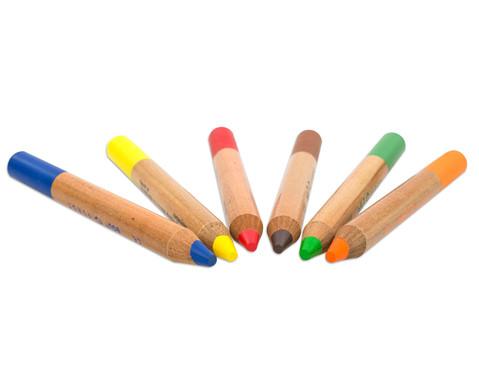 36 Buntstifte im Holzaufsteller mit Spitzer-3