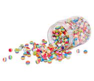 Streifen-Perlen rund, 500 g