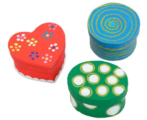 Pappdosen Kreis Oval und Herz 6 Stueck-2