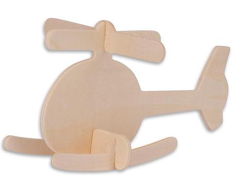 Holz-Bausatz  Hubschrauber und Flugzeug-2