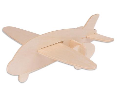 Holz-Bausatz  Hubschrauber und Flugzeug-3