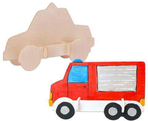 Holz- Bausatz Polizei und Feuerwehrauto-1