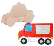 Holz- Bausatz: Polizei und Feuerwehrauto