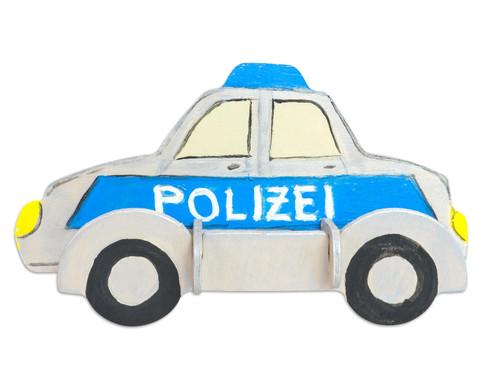 Holz- Bausatz Polizei und Feuerwehrauto-2