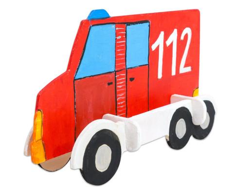 Holz- Bausatz Polizei und Feuerwehrauto-3
