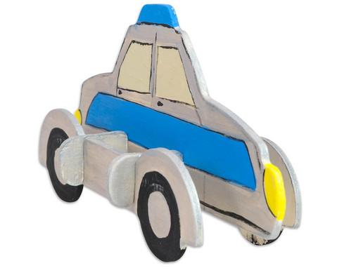 Holz- Bausatz Polizei und Feuerwehrauto-6