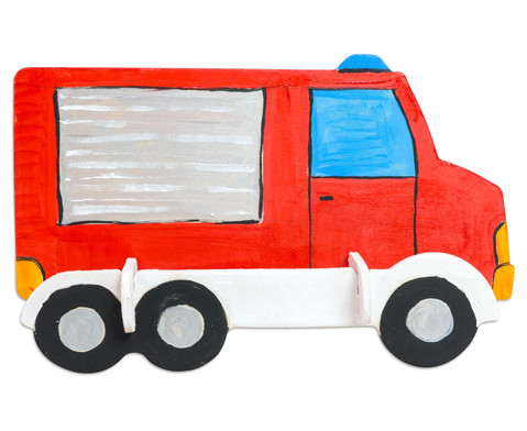 Holz- Bausatz Polizei und Feuerwehrauto-7