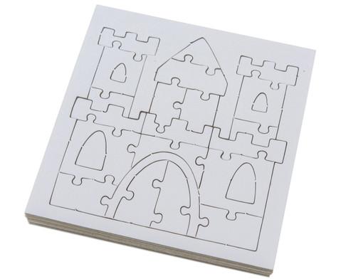 Puzzle zum Ausmalen 10er Set-2